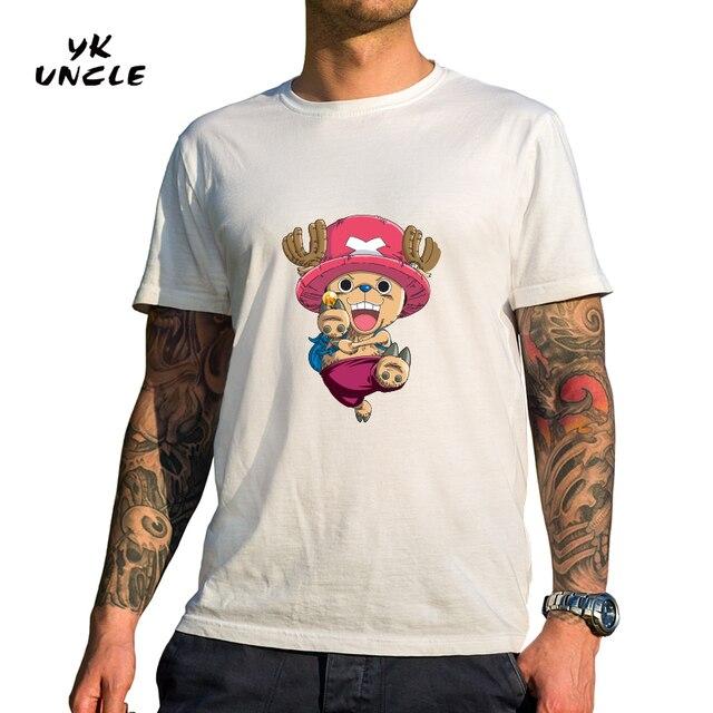 Yk Uncle marca de una pieza camiseta 2017 moda japonés anime Nico Robi ropa  color blanco ac65501107b2d