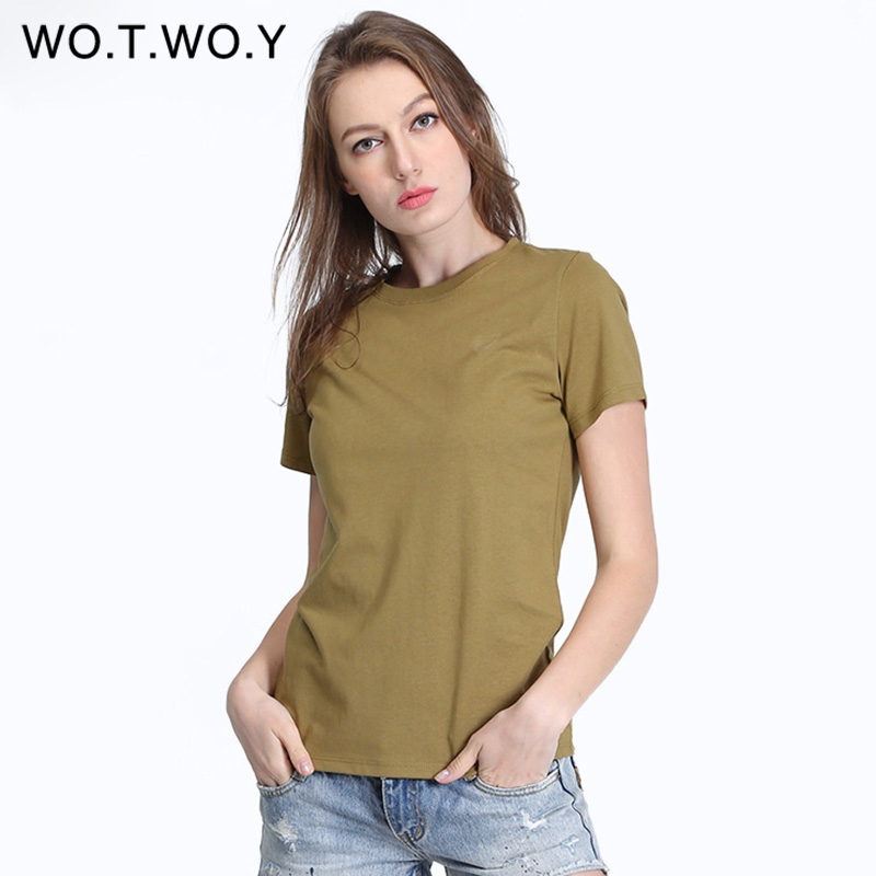 high quality 100 cotton t shirt women no elastic short sleeve fashion basic summer tee shirt. Black Bedroom Furniture Sets. Home Design Ideas