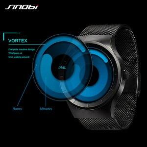 Image 2 - 2020 SINOBI Luxury Sport นาฬิกาข้อมือชายแฟชั่นควอตซ์สแตนเลสตาข่าย Relogio Masculino