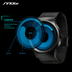Image 2 - 2020 SINOBI メンズ腕時計トップブランドの高級スポーツ男性腕時計ファッションクォーツステンレススチールメッシュストラップレロジオ Masculino