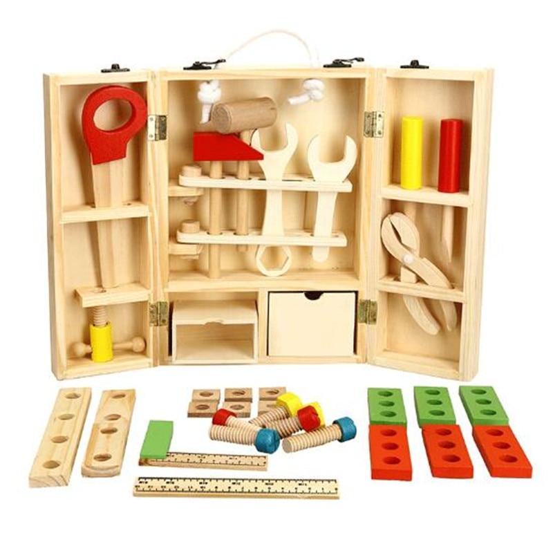 WYNLZQ maison de jeu en bois jouets Simulation Kits de réparation multi-fonction démontage outils de réparation bébé garçons boîte à outils cadeau d'anniversaire enfant