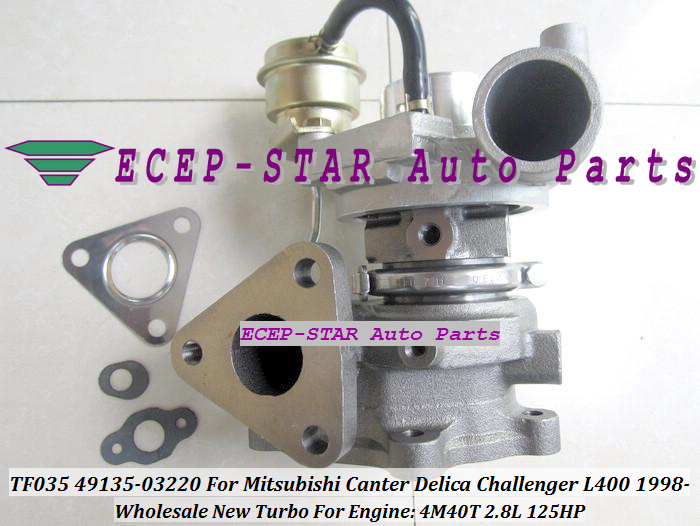 TF035-2 49135-03200 ME202879 Turbo Turbine Turbocharger For MITSUBISHI Canter Delica Challenger L400 1998- 4M40 4M40T 2.8L 140HP