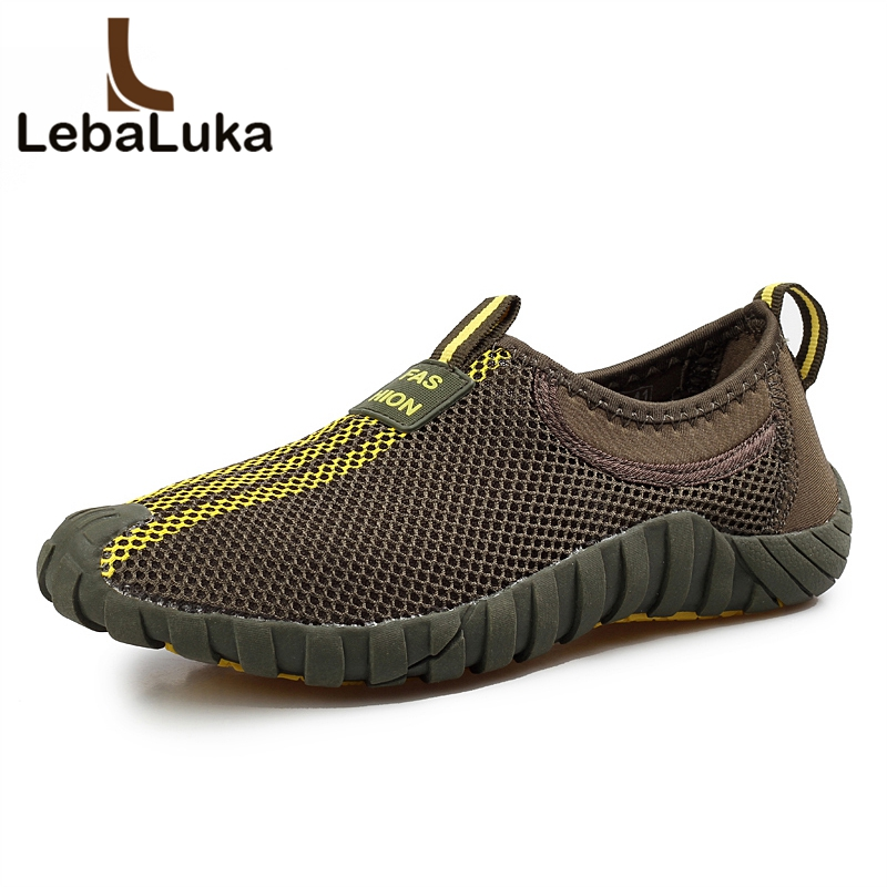 LebaLuka 4 Color Summer Men Mesh Breathable Causal Shoes Simple Round Toe Sneakers Daily Fashion Shoes Male Footwear Size 39-44 ...