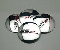 4pcs D115 Silver 56 5mm Car Emblem Badge Sticker Wheel Hub Caps Centre Cover SS R