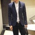 Mens jaqueta blazer 2016 primavera e no verão de lazer ternos Coreano Moda Slim jaqueta terno Homens