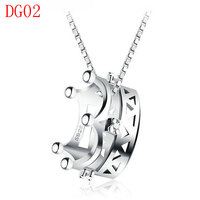Fashion Jewerly Necklace New Arrive Sliver Color Necklace For Couple DG02