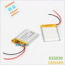 Bateria de Polímero Caneta sem Fio 3.7 V de Lítio 302030 032030 140 Mah Gps Bluetooth Fone Ouvido Mp3 Mp4 Gravação Wi-fi Localizador Baterias