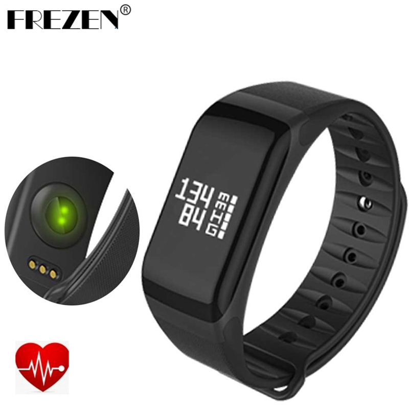 FREZEN F1 Smart Band Blood Pressure Monitor Oxygen Gelang Sukan Heart Rate Monitor Call / SMS Reminder For iOS Android Phone
