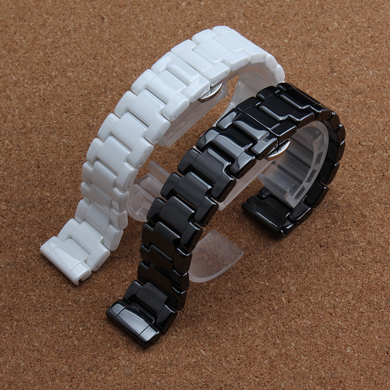 14mm 16mm 18mm 19mm 20mm 22mm White Black Ceramic watchbands metal stainless steel Buckle high quality watch accessories bands high quality lowest price wholesale kz 19 pneumatic combination steel metal strapping packing machine for 19mm steel strap tape