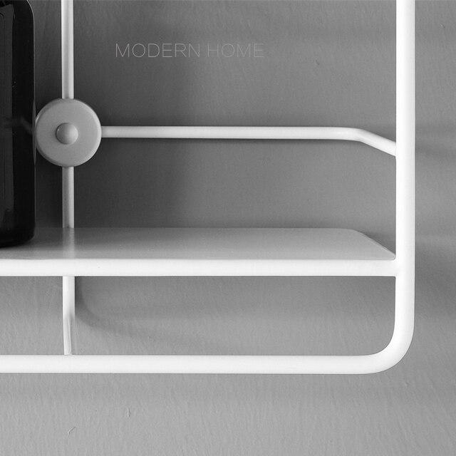 Wall Mounted Modern Classic Design fashion Loft Metal Steel Shelves Rack Storage Holders Coat Rack hook, display show shelf rack 3