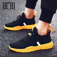 MUMUELI Black Red Yellow Knit Mesh High Quality Men Shoes Designer Breathable 2019 Fashion Luxury Brand Casual Sneakers L 7881