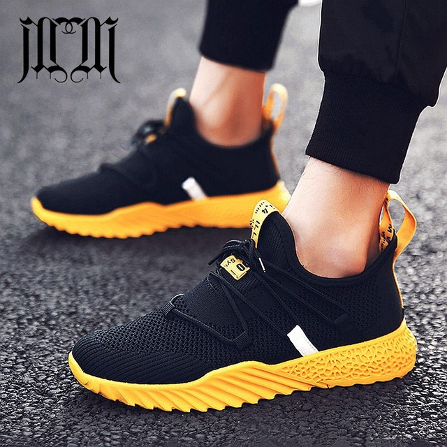 MUMUELI черный, красный желтый из трикотажной сетки Высококачественные мужские туфли дизайнерские дышащий 2019 Мода Элитный бренд Повседневное кроссовки L-7881
