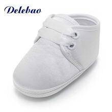 Обувь для крещения delebao Белая обувь на шнурках маленьких