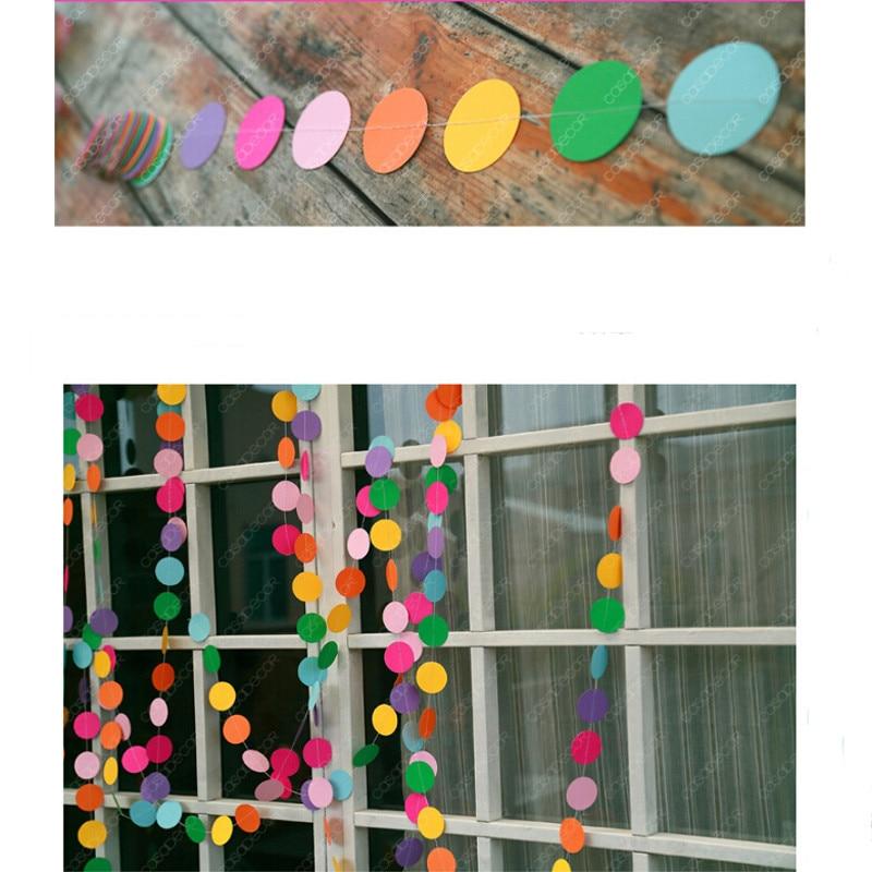 4 м барвисті круглі картки паперу - Святкові та вечірні предмети