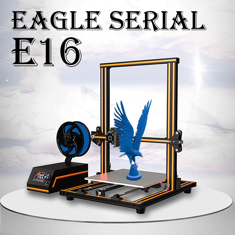2019 Anet E10 E12 E16 Aigle Série 3D Imprimante avec 300*300*400mm Grande Taille D'impression Impresora 3D Imprimante Nouveau Arrial