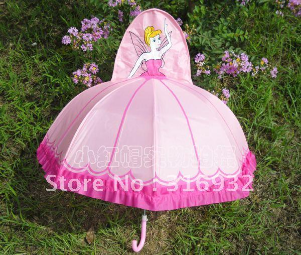 Free shipping cartoon Children pink princess kids umbrella 1pc