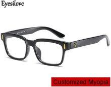 все цены на Eyesilove customized myopia glasses for men women short-sighted prescription glasses near-sighted mopia eyeglasses single vision онлайн