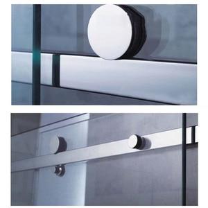 Image 4 - 高品質 1 セットステンレス鋼フレームレス浴室のシャワードアハードウェアスライディングセットキャビンハードウェアバーなしやガラスドア