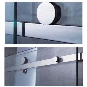 Image 4 - Wysokiej jakości 1 zestaw ze stali nierdzewnej bezramowe łazienka prysznic okucia do drzwi przesuwnych zestaw sprzętu kabiny bez Bar lub szklane drzwi