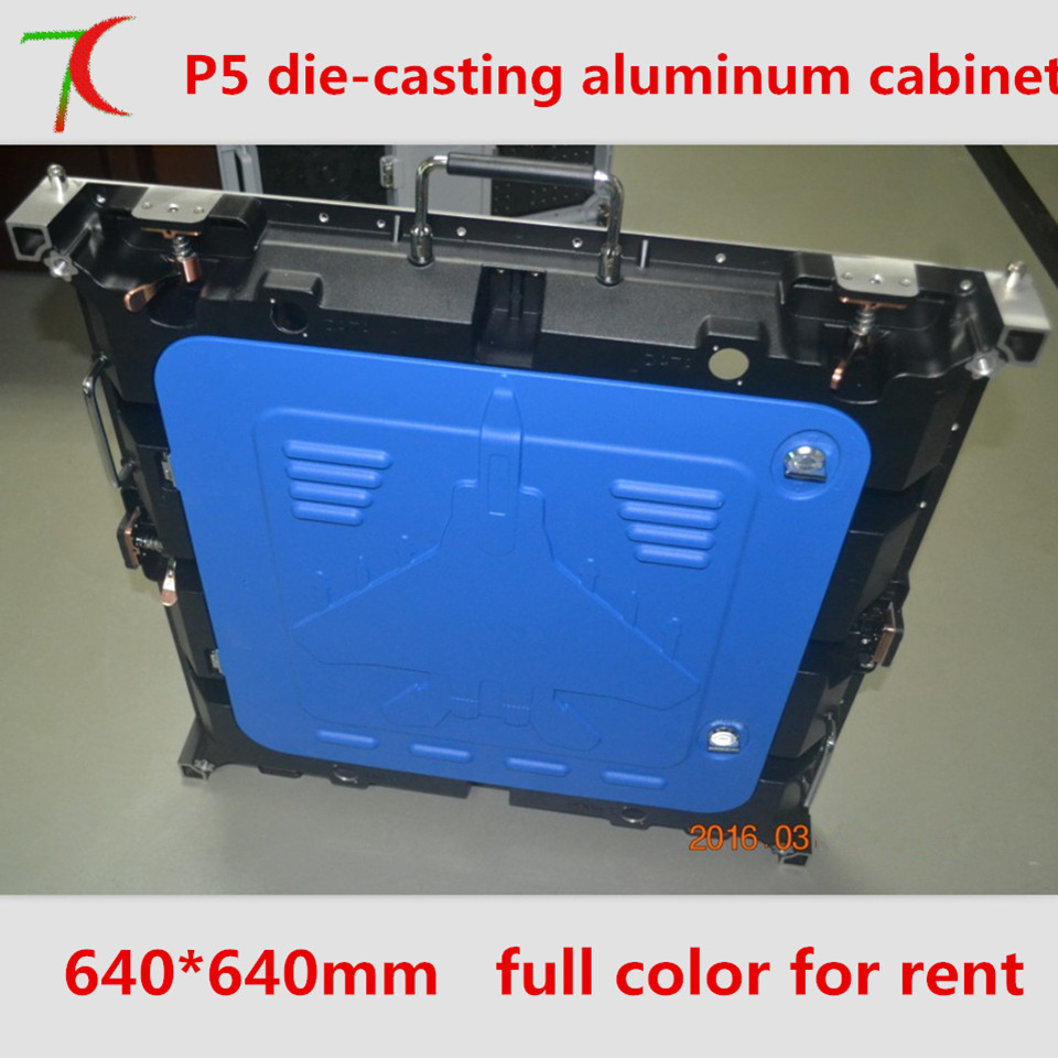 Factory direct sales P5 HD  SMD full color die-casting aluminium cabinet display /16 scan  40000dots/m2