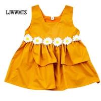 LJWWMTZ 18 new CLYQ14 The latest princess baby summer vest girl dress newborn vest cute dress flower dress