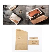 1 Набор, сделай сам, кожа, ручная работа, Женская сумочка, кошелек, кошелек, Прошитый узор, твердый крафт-бумажный трафарет, шаблон 120x80 мм