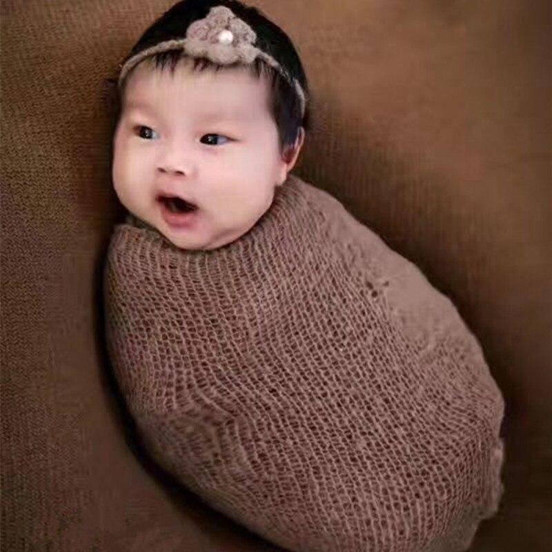 15 színes baba fotó rugalmas mohair wrap ruhával 30 * 150 cm - Bébi ruházat