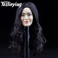 Exquisite ladies 1/6 ratio Female head carving model Asian actress Shu Qi 12 Phicen female engraving action figure
