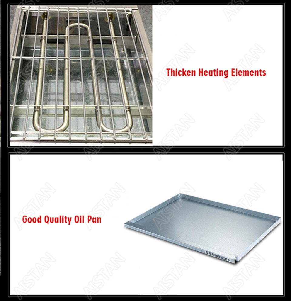 EB280 Electric Smokeless Barbecue Oven Grill for bbq machinery Stainless Steel High Power 16
