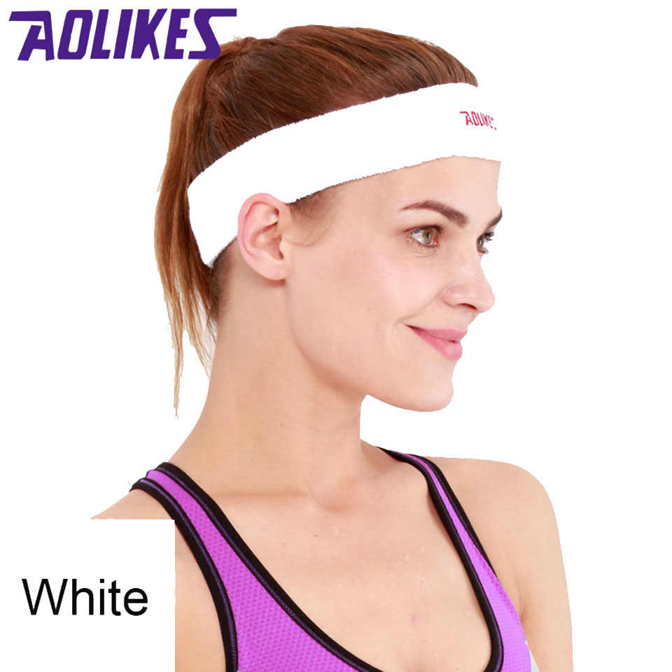 ... AOLIKES Sports Yoga Basketball Gym Sport Sweatband Headband Stretch  Head Hair Band Sweat Sweatband Mens Women ... cab47fdae0c