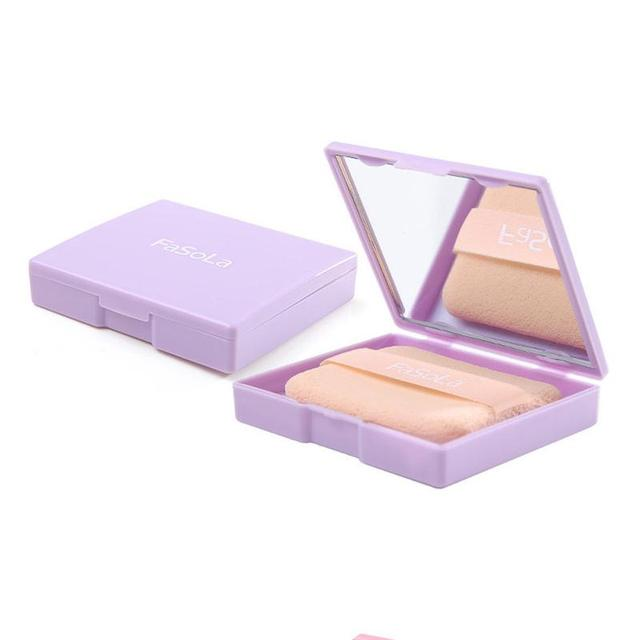 80 Sheets Oil absorbing sheets Blotting paper Portable Oil control With puff  Wipe Eye Cream Cleaner Cotton Pads Makeup Cleanser