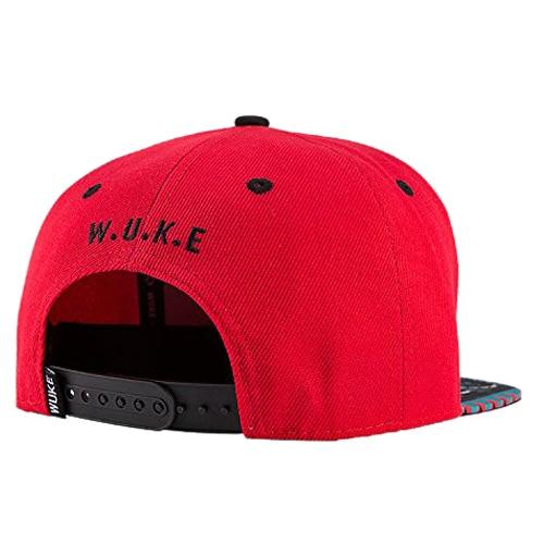 WuKe Embroidery Snapback,   Baseball   Hat Flat Brim Hip Hop   Caps  , Red Map of Africa