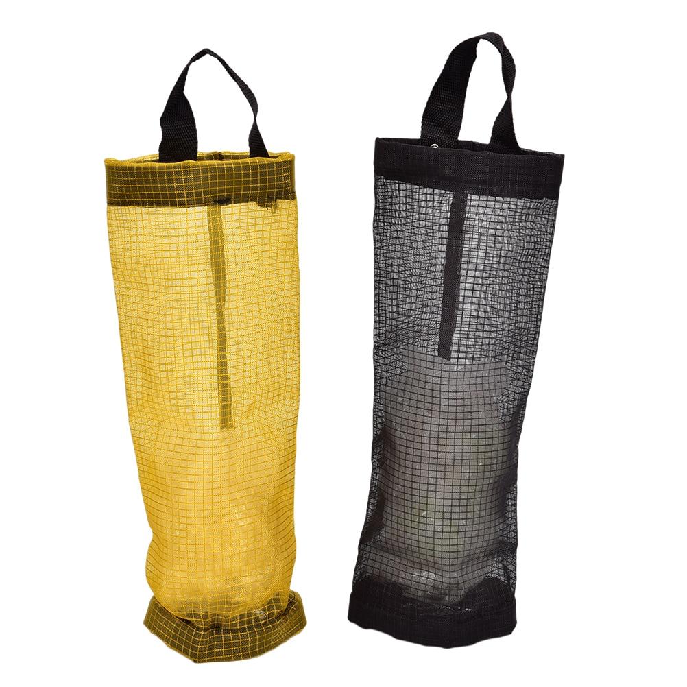 Grocery bags holder wall mount storage dispenser plastic kitchen organize Al