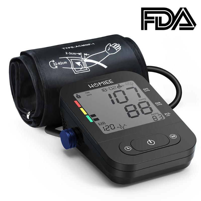 Digital Upper Arm Blood Pressure Monitor Tester Electronic Sphygmomanometer