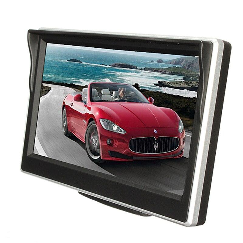 Универсальный 5 дюймов TFT ЖК-дисплей Дисплей автомобиля Мониторы заднего вида Обратный зеркало Мониторы автомобильный DVD Экран Мониторы Авто ТВ