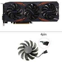 مروحة تبريد جديدة 75 مللي متر T128010SU جيجابايت AORUS GeForce GTX1070 1080Ti G1 GTX1660 TI مروحة تبريد البطاقات