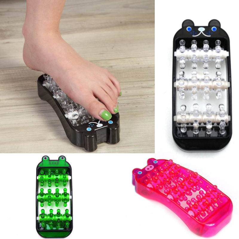 Random Color Cartoon Massage Skin Roller For Slimming Leg Foot Massager Anti Cellulite Losing Weight Health Feet Care excellent quality 2 rollers relax finger joints hand massager fingers massage tool random color