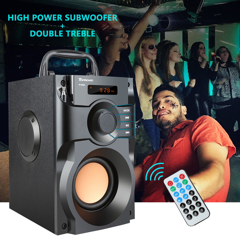 Big Power Bluetooth Speaker Wireless Stereo Subwoofer Heavy Bass 2
