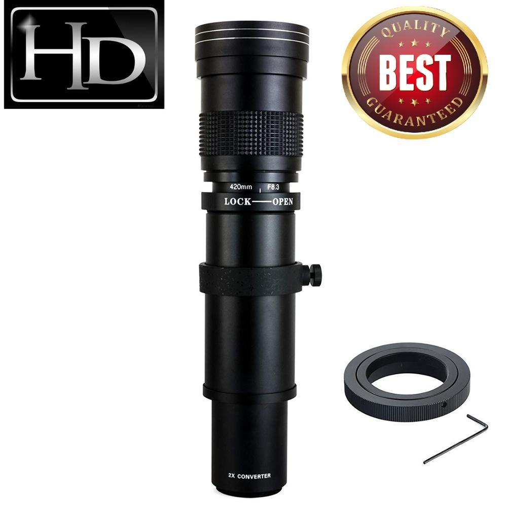 JINTU 420-800mm F/8.3-16 Téléobjectif pour CANON EOS 650D 750D 550D 800D 1200D 200D 1300 5DII 5D3 5DIV 6D Appareil Photo Numérique