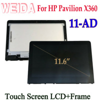 WEIDA LCD For HP PAVILION X360 11 AD 11 ad000 11 ad100 11 AD Series 11.6 Touch Screen LCD Display Assembly Frame Replacement