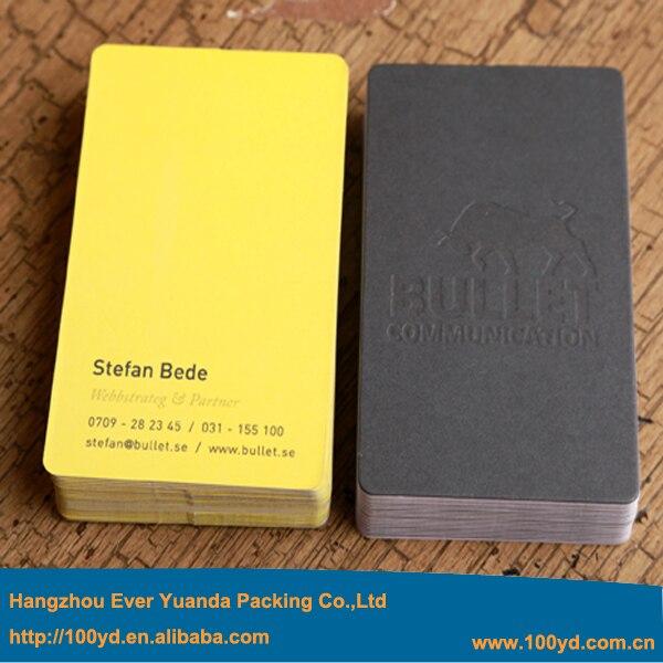 Boutique Spciale Papier Personnalise Cartes De Visite Top Qualit Color Design En Creux Rond Coin Impression Lgante Nom La Carte Dans