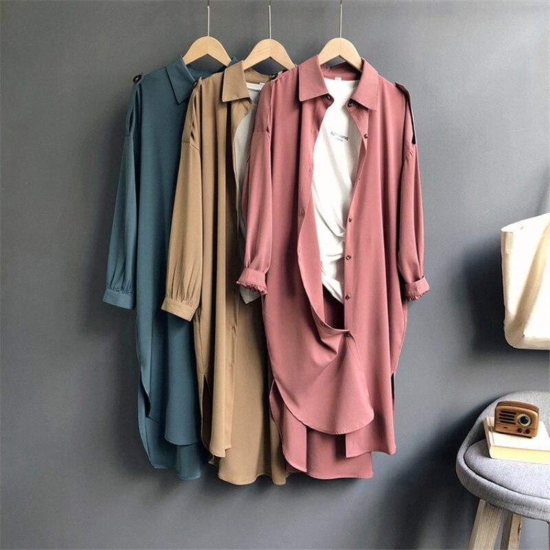 All Match Casual Long Blouse Shirt Women 2018 Autumn Women Long Sleeve Shirts Blouse High quality Wide Shouler loose Blouse Tops