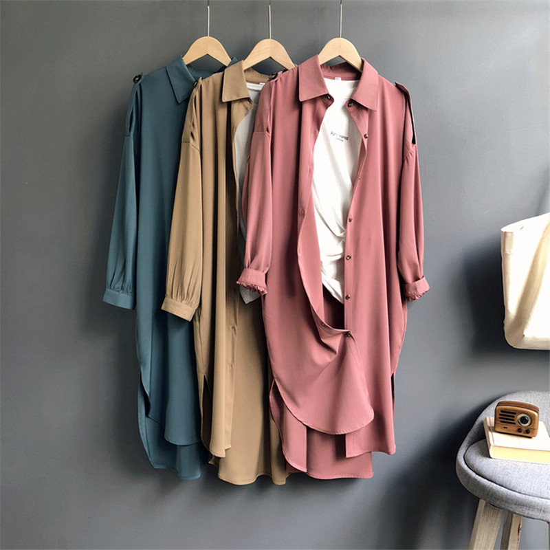 All Match Casual Long Blouse Shirt Women 2018 Autumn Women Long Sleeve Shirts Blouse High quality Wide Shouler loose Blouse Tops