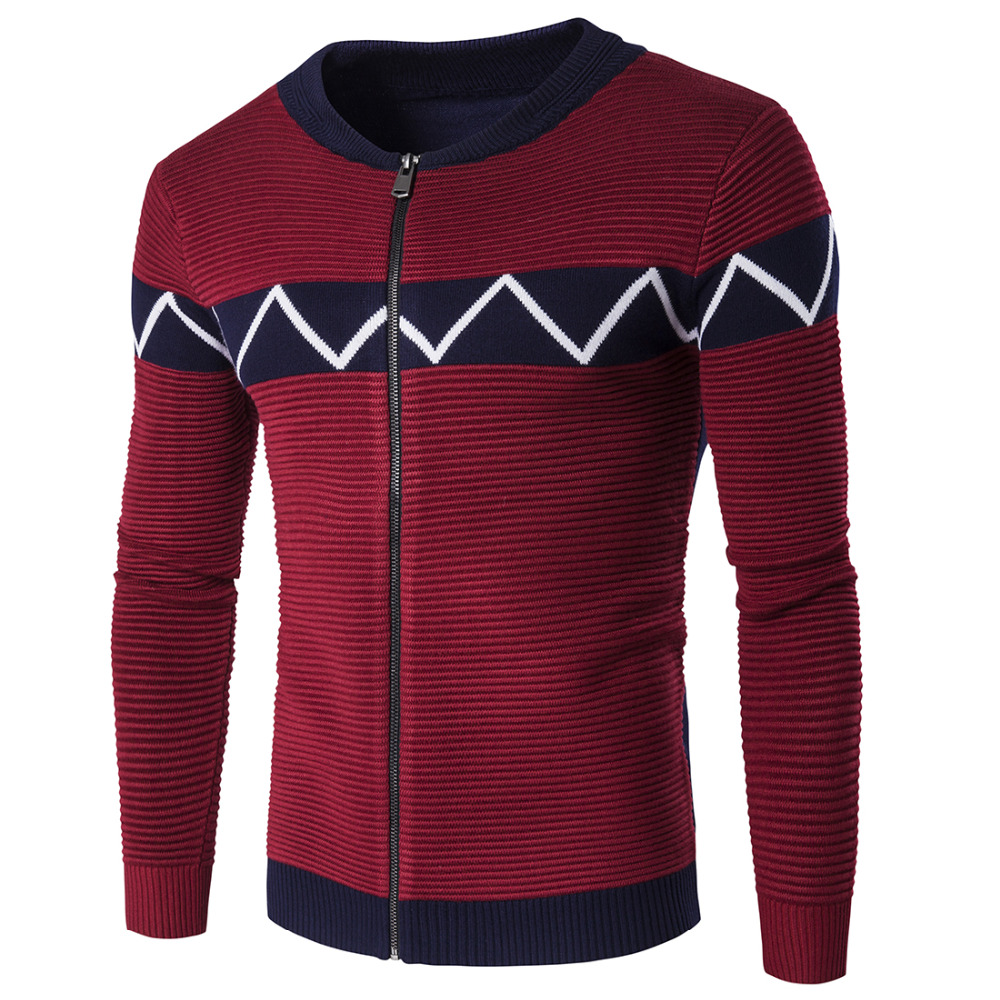 2016 Autumn Mens Sweaters Male Winter Double Breasted Cardigan Man's Blue Knitwear Slim Fit Brand Clothing SweaterCoats