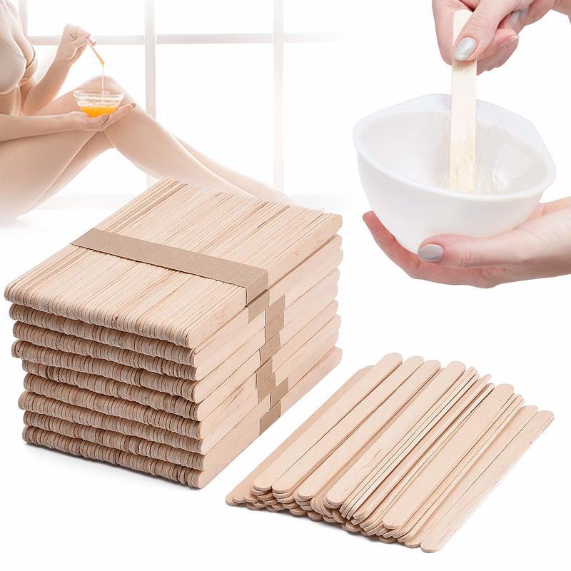 10Pcs Woman Wooden Body Hair Removal Sticks Wax Waxing Disposable Sticks Wooden Waxing Wax Spatula Tongue Depressor
