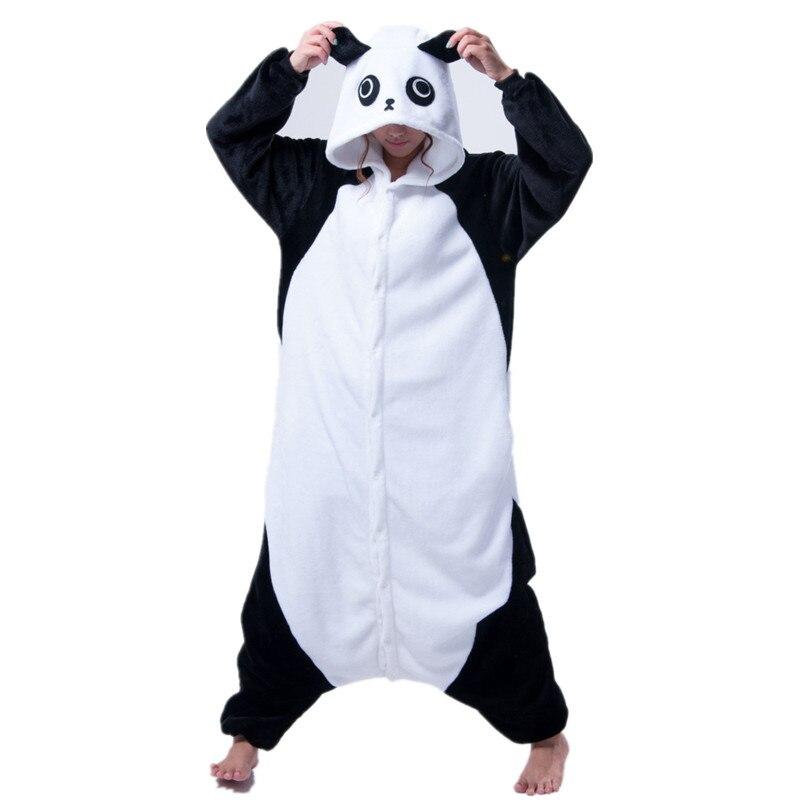 Панда один кусок животных Косплей комбинезоны пижамы комбинезон толстовки костюмы косплей для взрослых на Хэллоуин и карнавал