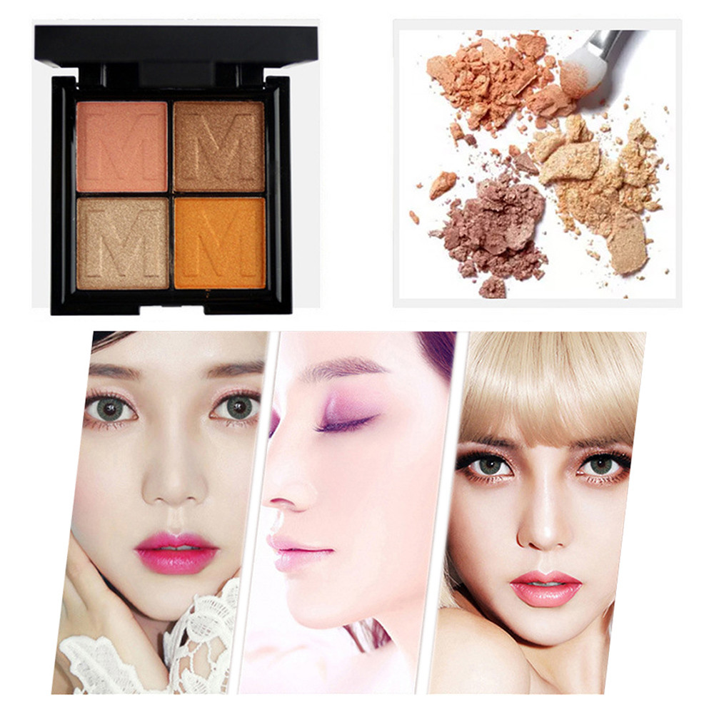 4 Color Ladies Cosmetics Waterproof Lasting Pearls Eye Shadow Plate maquiagem profissional completa 40*