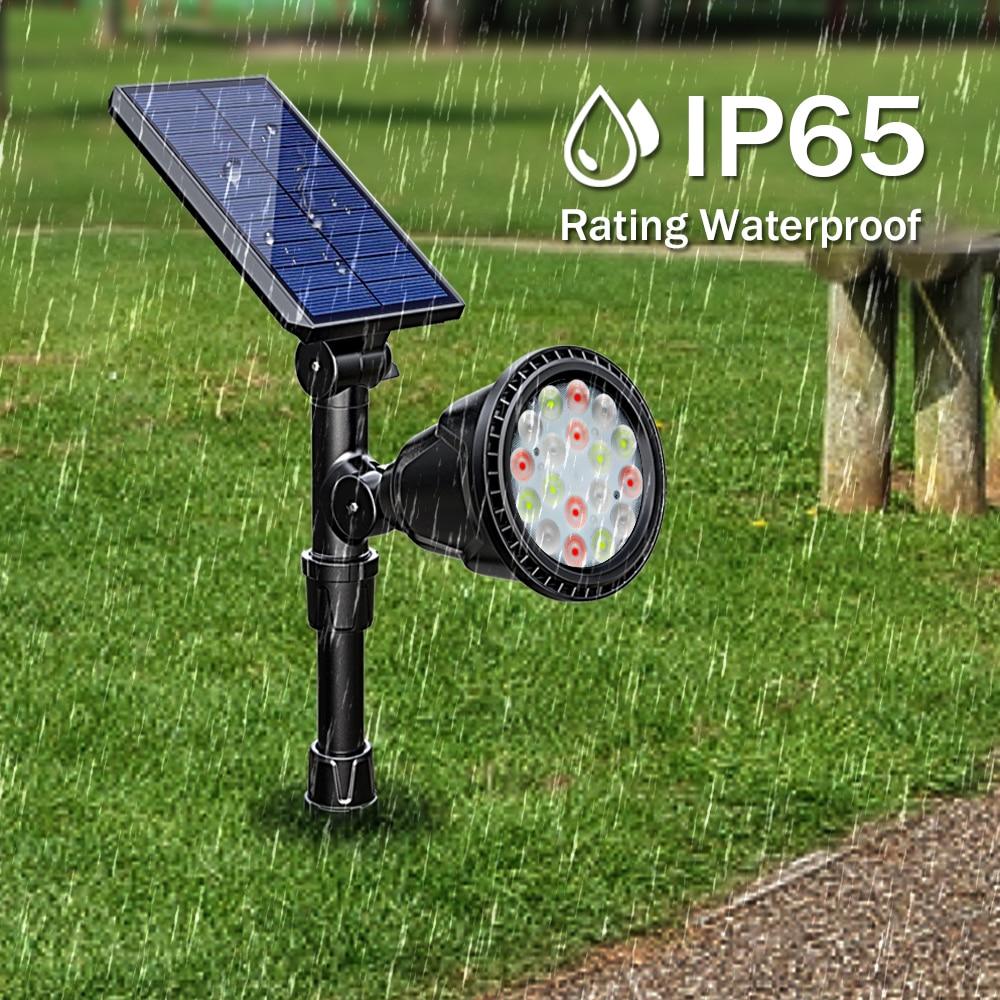 ip65 à prova dwaterproof água 7 cor paisagem ao ar livre luz