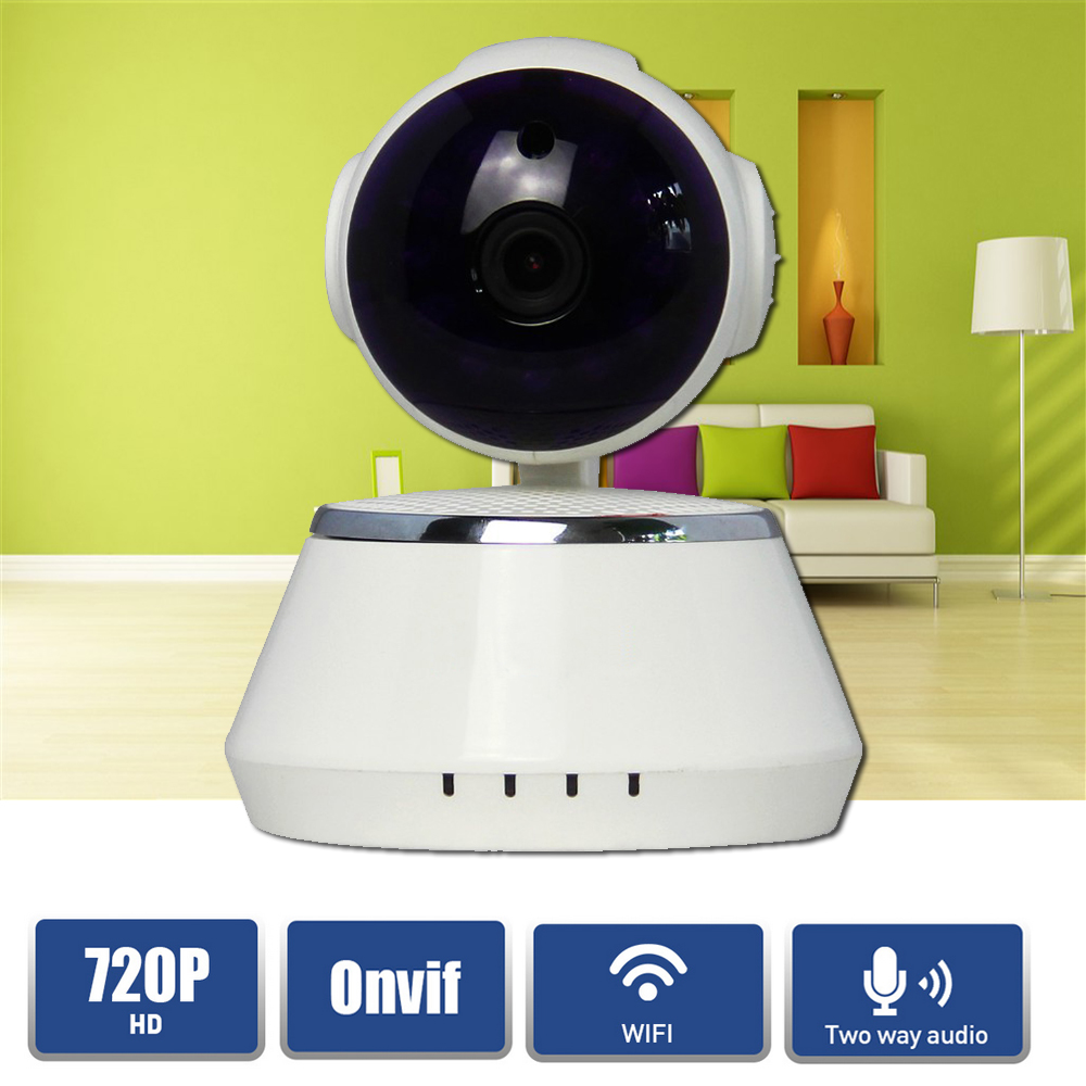 Home Security 720P HD Mini P2P IP Camera 1MP Wireless Wifi Pan/Tilt Two Way Audio Video Camera Onvif Night Vision CCTV System escam hd 720p wireless ip camera wifi pan tilt two way audio p2p ir cut night vision onvif cloud home security camera sd card