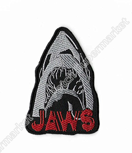3 5 JAWS TV Movie Film Uniform iron on patch Hat Vest Jacket Shirt applique badge